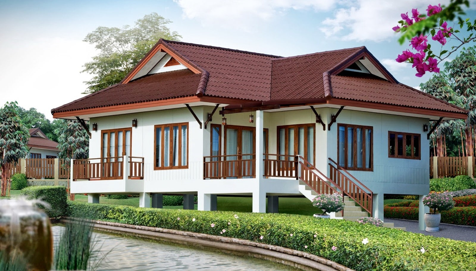 Introducing the modern Thai style house.